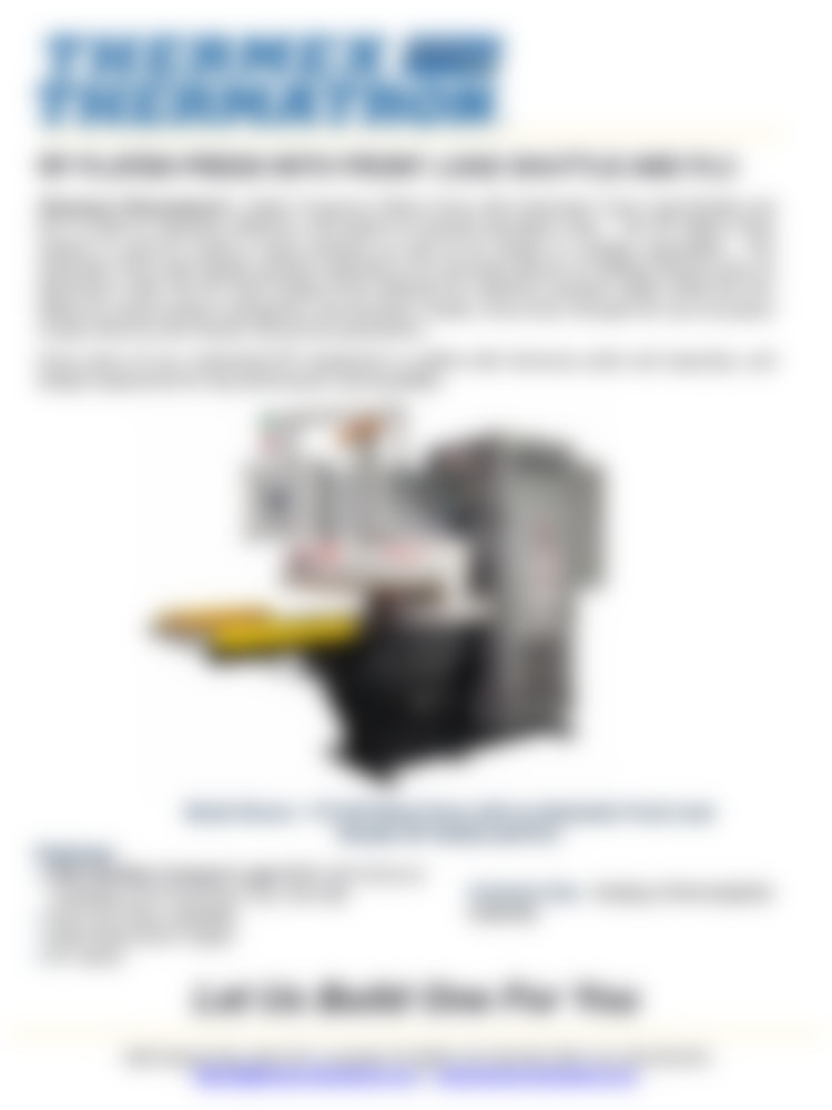 Rf Platen Press With Auto Frontload Shuttle Rf Switch And Plc1024 1