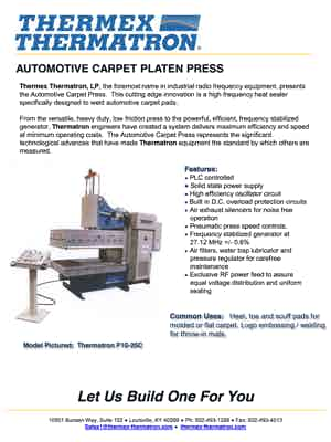 Auto Carpet Platen Press