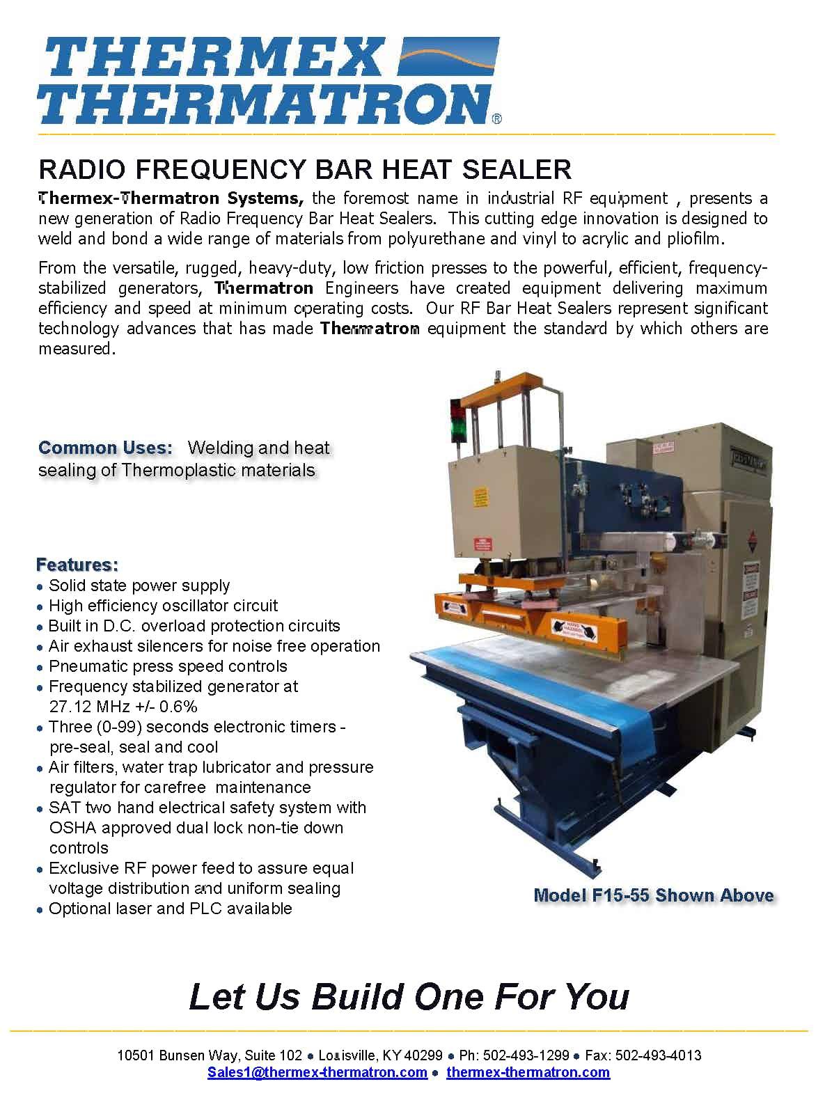 Rf Bar Heat Sealer