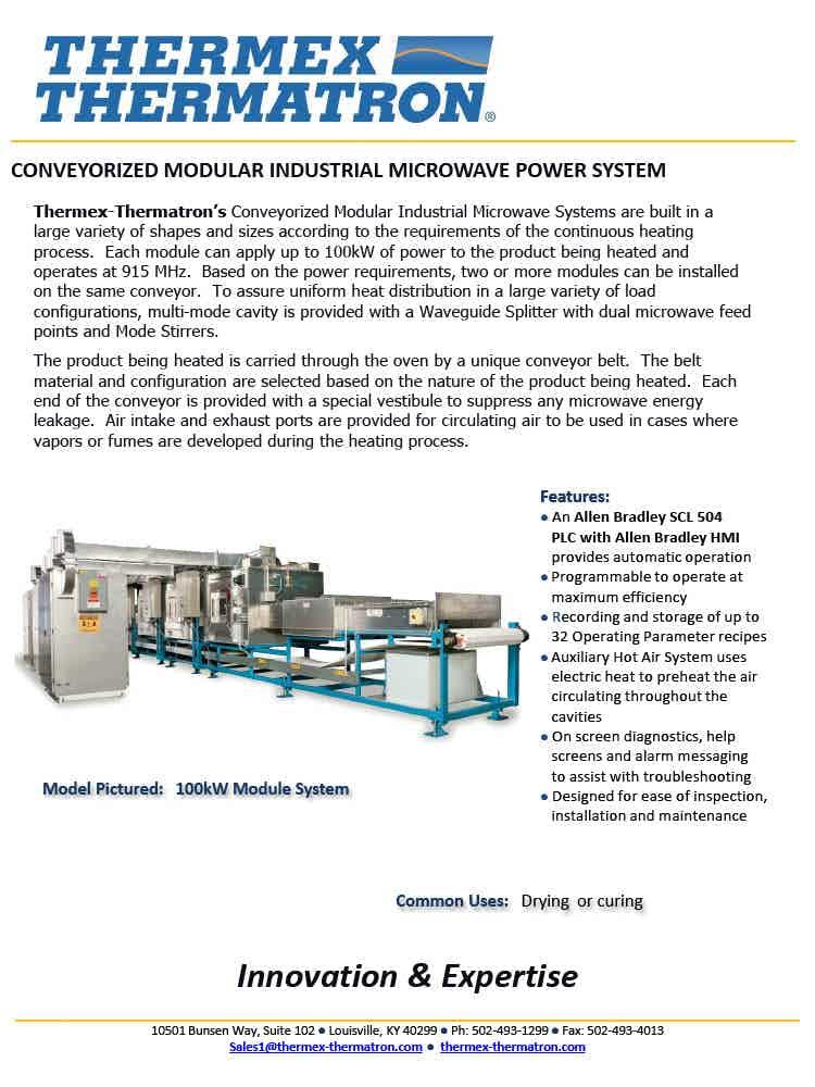 Conveyorized Mw System1024 1