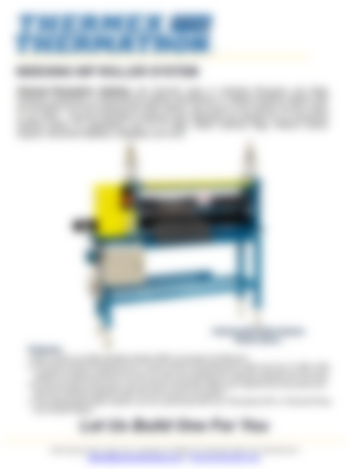 Indexing Nip Roller System Brochure Cover