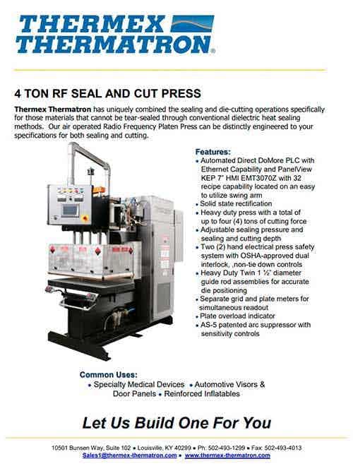 4 Ton Rf Seal Cut Press