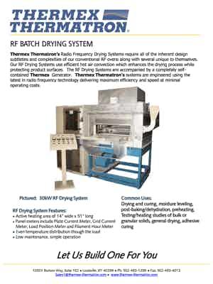 56833 Rf Batch Drying System