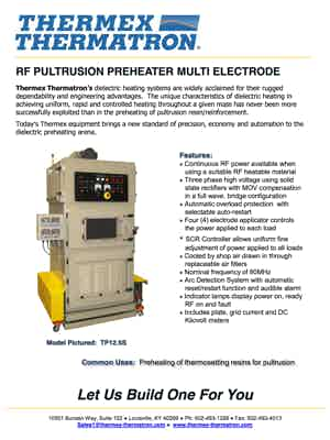 Rf Pultrusion Preheater Multi Electrode